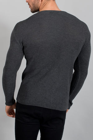 pull homme gris smoke 1635