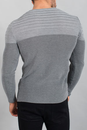 pull homme 1555 gris/smoke
