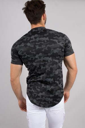 T-shirt homme oversize camouflage 123
