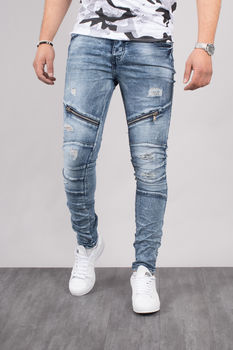 Jeans homme skinny bleu  clair 72176