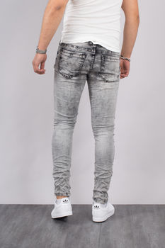 Jeans homme skinny gris 72207