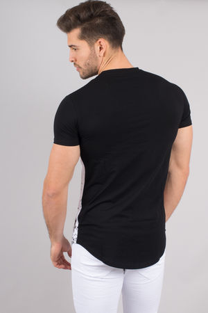 T-shirt homme noir bi Color 98085