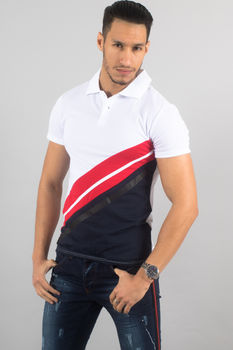 Polo homme blanc Color 1867