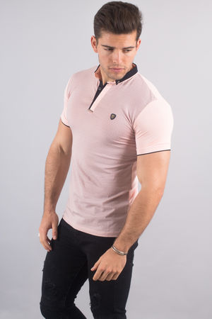 Polo homme rose pastel 8152