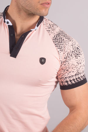Polo homme rose 8172