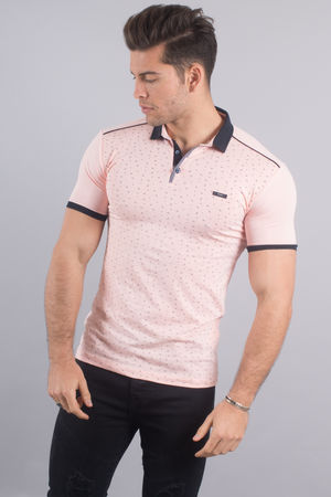 Polo homme rose 18036