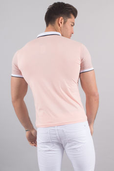 Polo homme rose  8094