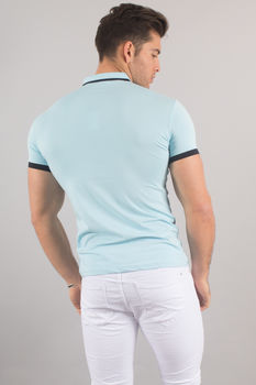 Polo homme turquoise 8151