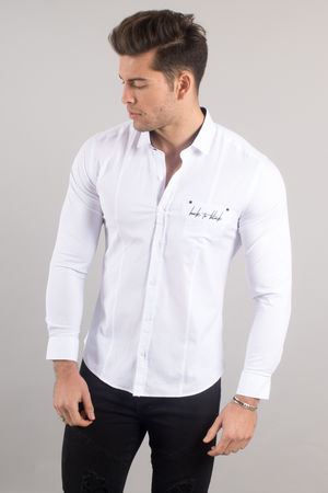 chemise italienne homme blanche 3330