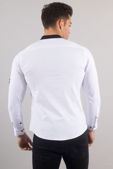 chemise italienne homme blanche 3340