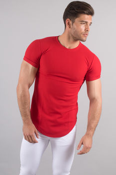 T-shirt homme oversize rouge 211