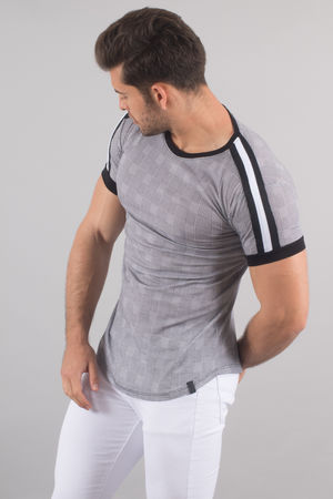 T-shirt homme oversize carreaux 1379