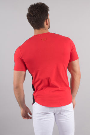 T-shirt homme rouge oversize 213