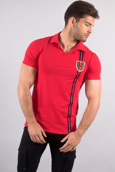 polo homme rouge up