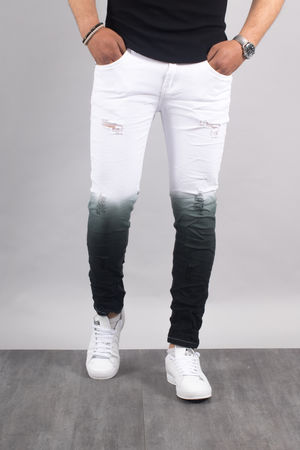 jeans homme skinny tie and dye blanc 1528