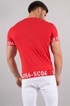 T-shirt homme rouge 4512