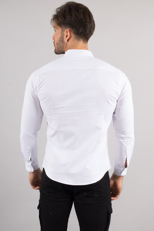 chemise italienne homme classe blanche 3335