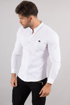 chemise italienne homme classe blanche 3345