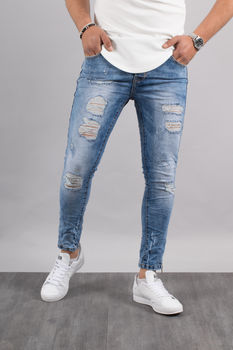 Jeans homme skinny bleu clair 72221