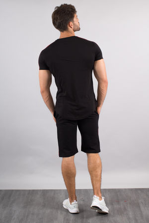Ensemble homme  t-shirt + short noir/rouge 618