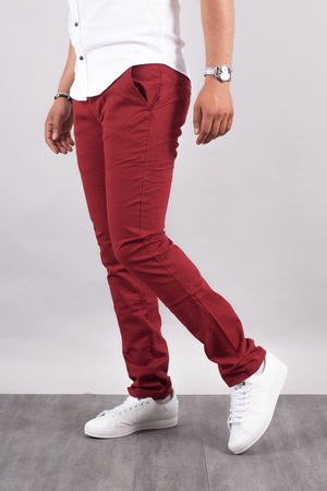 Chino homme rouge 5660 R