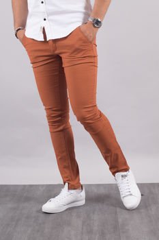 Chino homme rouille 5660 D