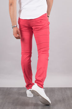 Chino homme rouge pastel  5710 S