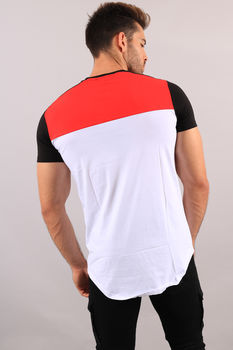T-shirt homme oversize rouge 98111-1