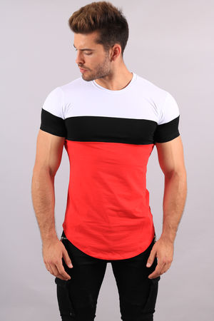 T-shirt homme tricolore White 1880