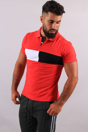 Polo homme rouge 1843