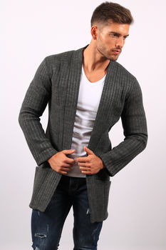 Gilet homme long gris antra  6002 A
