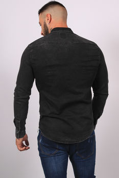 chemise homme jeans gris antra 5111