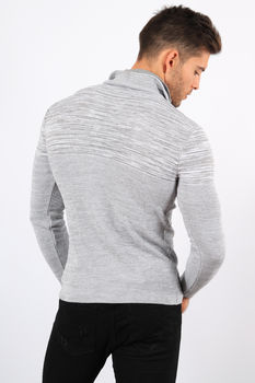 pull homme  blanc chiné 3180