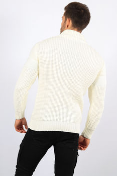 pull homme blanc creme 5876
