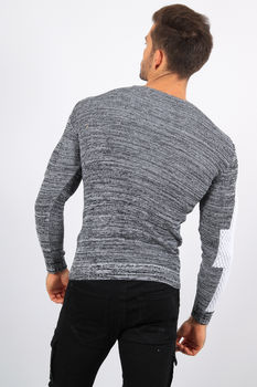 pull homme gris CE 3272