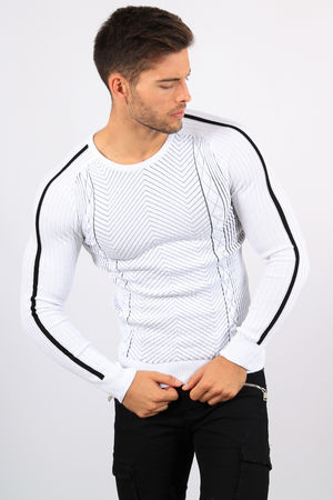 pull homme blanc CE 3249