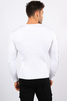 pull homme blanc CE 3230