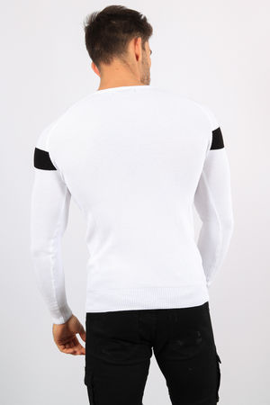 pull homme blanc 9106