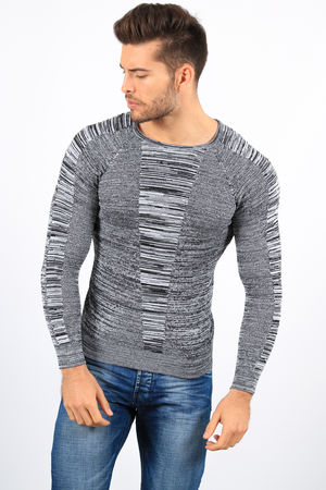 pull homme gris 3134