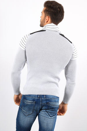 pull homme  stylé gris 823
