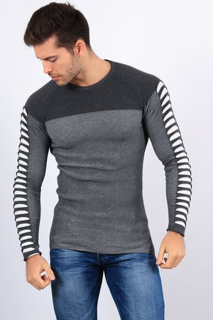pull homme  gris antra  2201