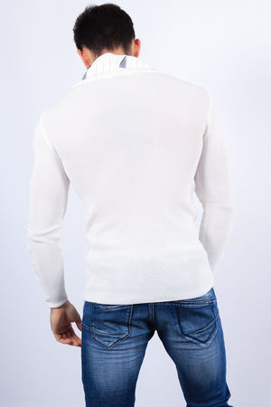 pull homme stylé blanc 1810