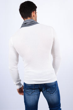pull homme stylé blanc 1410