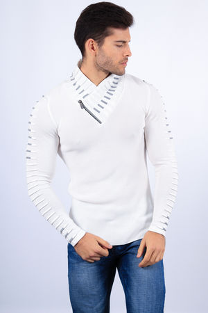 pull homme stylé blanc 1785