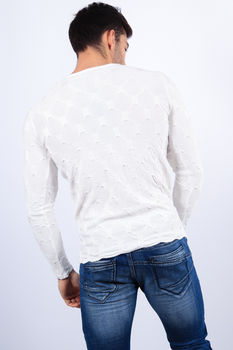 pull homme blanc  2204
