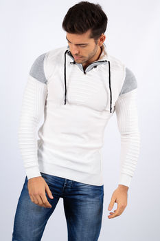 pull homme stylé blanc 1727