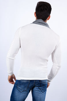 pull homme stylé blanc 1620