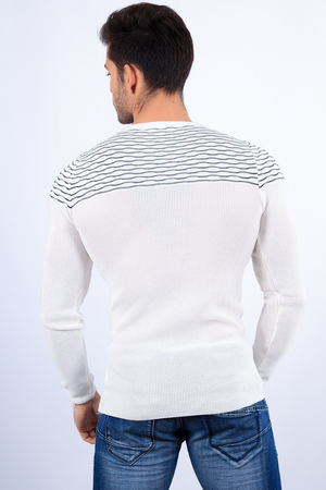 pull homme  blanc  2100