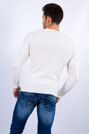 pull homme blanc  2117