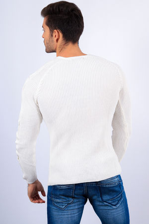 pull homme blanc 2156